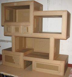 meuble de rangement en carton Instructions de montage...