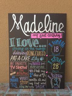 Custom Hand-Painted 15x20 BIRTHDAY POSTER for birthday party photo shoot prop senior graduation engagement wedding shower via Etsy