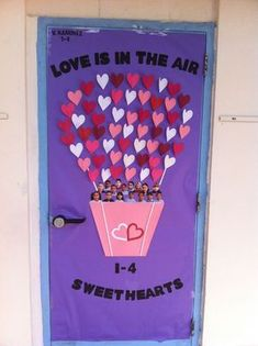 Door decoration for my daughter's first grade classroom, in Valentine's Day theme. I Modified from a pin I found a few days ago!