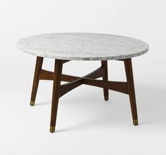 Reeve Mid Century Coffee Table in Marble by West Elm I Remodelista