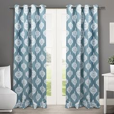 Shop for ATI Home Medallion Blackout Thermal Grommet Top 84-inch Curtain Panel Pair. Free Shipping on orders over $45 at Overstock.com - Your Online Home Decor Outlet Store! Get 5% in rewards with Club O! - 17924442