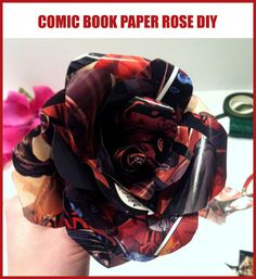 How to Make a Star Wars/ Comic Book Paper Rose