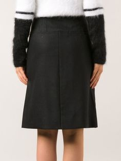 Atto slit front skirt