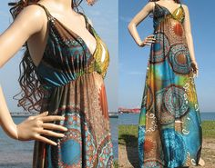 I love long dresses in the summer
