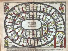 Medieval Game of Goose - directions on how to play