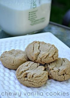 Chewy vanilla cookie recipe. A simple, but perfect dessert. Put this one on your holiday baking list! Or make it today, I bet you have all the ingredients in your pantry anyway.