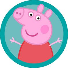 Peppa pig labels/cake table sign