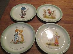 "HOLLY HOBBIE Lot of 4 Vintage 1972 Decorative Collectors PLATES 10 3/8"""
