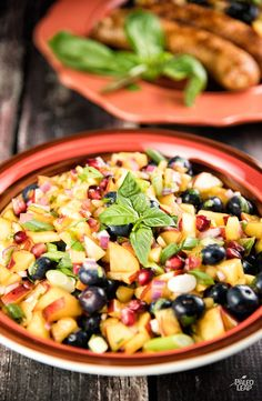 Blueberry-Peach Salsa | Paleo Leap