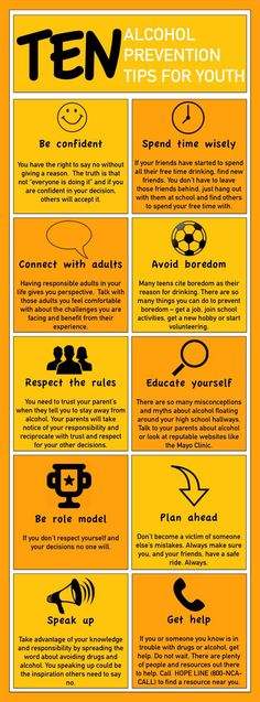 10 alcohol prevention tips for youth [infographic]