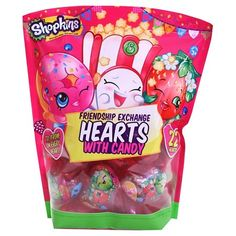 Shopkins Friendship Exchange Valentines Hearts with Candy 22ct : Target