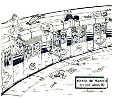 Dibujo del metro de Madrid en los años 80 ©Belén García Madrid, Floor Plans, Diagram, Sketches, Drawings, Floor Plan Drawing, House Floor Plans