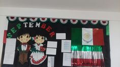 Mexican Independence September Bulletin Boards, Mexican Independence Day, Classroom Setup, Advent Calendar, Activities, Holiday Decor, September Preschool, Murals, Classroom
