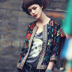 Spring Floral Jackets Women 2016 Short Basic Jacket Abrigos y Chaquetas Embroidery Vintage Jacket Coat