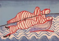 'Ophelia' (1997) by French-American artist Louise Bourgeois (1911-2010). Lithograph, edition of 50, 29.5 x 42 in. via Michael H. Lord Gallery on artnet