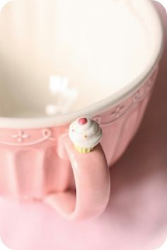 66 Ideas Cupcakes Cute Girly Tea Parties For 2019 Pink Love, Pretty In Pink, Pink Pink Pink, Pink White, Pink Sugar, Café Chocolate, Tout Rose, Pink Cups, Pink Bowls