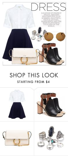 """""""Untitled #715"""" by neflaluna on Polyvore featuring Paul & Joe Sister, Loeffler Randall, Chloé, Givenchy and dress"""