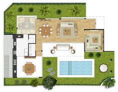 Condomínio Bauhaus,Planta Individual - Térreo