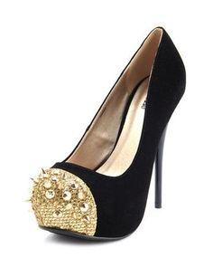 Gold Toe Pump
