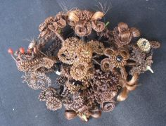 Victorian mourning wreath made of the hair of 15 different deceased relatives