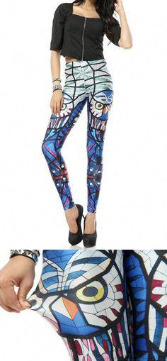 9830d63cde1b6f Fashion Glass Parrot Printed Leggings for big sale! #fashion #legging #owl  Printed