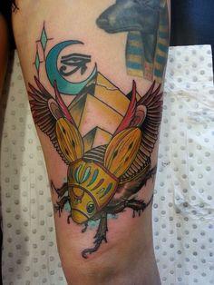 Egyptian Scarab tattoo - Drew Shallis, NSW