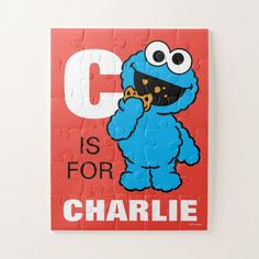 C is for Cookie Monster Make Your Own Puzzle, Childrens Gifts, Custom Cookies, Puzzles For Kids, Fun Cookies, Cookie Monster, Customized Gifts, Design Elements
