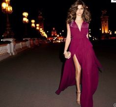 dress maxi dress leg slit plunge neckline vneck v neck deep v neck long dress red dress burgundy plum dress sexy dress elegant dress formal dress chiffon prom dress cute dress long prom dresses fashion
