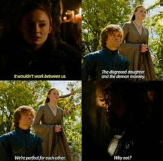 Sansa Stark, Tyrion And Sansa, Cersei Lannister, Game Of Thrones Quotes, Game Of Thrones Art, Got Memes, How Do I Get, Winter Is Coming, Nerd Stuff