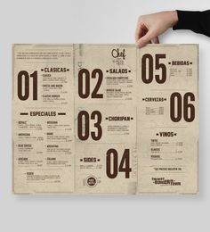Menu Design - Chef Burger Bar by Masif #graphicdesign #typography