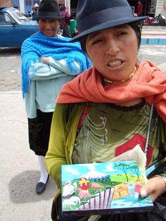 sur le marché d'Otavalo en Equateur