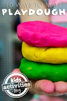 Need something to do with the kids at the kitchen table?  Check out these 10 different mom-tested homemade play dough recipes!
