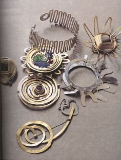 Jewelry designed by Alexander Calder.