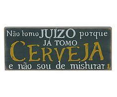 Box Decorativo Não Tomo Cerveja - 30x4,5cm