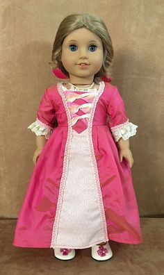 Elizabeth American Girl Doll Pink gown clothing Best friend blonde meet felicity #AmericanGirl #DollswithClothingAccessories