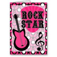 Rock star brithday cards | Teenager Birthday Cards, Teenager Birthday Card Templates, Postage ...