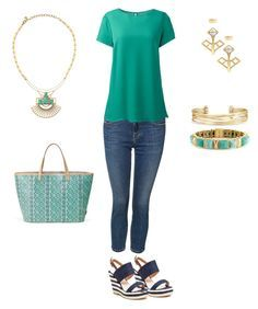 """""""Sunday Style"""" by gill-carruthers on Polyvore featuring French Blu, Dex, Lands' End, Stella & Dot and plus size clothing"""