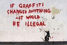 Banksy's rat daubs graffiti in Fitzrovia, London. I love me some banksy Banksy Graffiti, Street Art Banksy, Banksy Rat, Graffiti Books, Street Art Utopia, Graffiti Artwork, Bansky, Graffiti Quotes, Graffiti Artists