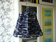 Lampshade of beautiful yarn