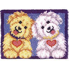 Wonderart Shaggy Puppies Latch Hook Rug Kit - Overstock™ Shopping ...