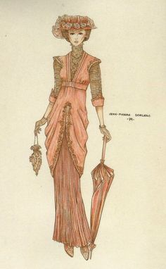 """A lot of designers' sketches were displayed too. This one is Jane Seymour's iconic dress from """"Somewhere in Time"""". The actual costume was there as well."""