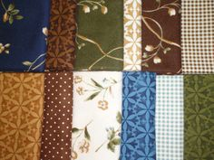 Maywood Flowers of the Forest Brown Blue Floral Flannel Fabric 12 Fat Quarter #MaywoodStudios