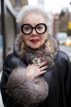 Diamonds may be a girl's best friend, but a fur coat isn't far behind.  ADVANCED STYLE: Rita Ellis Hammer