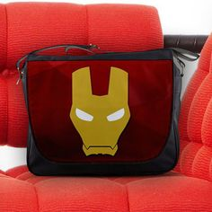 Iron Man Mask Avengers S.H.I.E.L.D. Unisex Messenger Sling Laptop Notebook School Bag