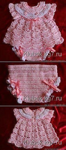 Months Crochet Baby Layers Dress Baby Dress Layers by SuziesTalentPatterns Crochet Baby Mittens, Crochet Kids Hats, Crochet Girls, Crochet Baby Clothes, Knitted Hats, Blanket Crochet, Crochet Socks, Crochet Beanie, Baby Set