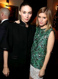 Rooney Mara and sister Kate Mara pose together at the L.A. premiere of Spike Jonze's movie Her.