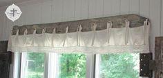 DIY: Barn Wood & Bedskirt Valance prodigalpieces.com #prodigalpieces