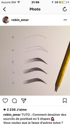 Draw eyebrows - me pin-autos com / - drawing Cool Art Drawings, Pencil Art Drawings, Realistic Drawings, Art Drawings Sketches, Eye Drawings, Eye Drawing Tutorials, Drawing Techniques, Drawing Tips, Art Tutorials