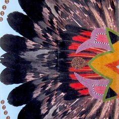 This stunning scarf by award-winning artist Jamie Okuma (Luiseño/Shoshone…