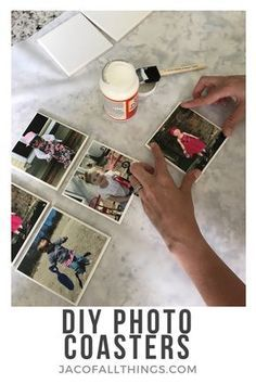 Diy Gifts To Make, Christmas Gifts To Make, Diy Gifts Using Photos, Christmas Outfits, Christmas Decor, Christmas Tree, How To Make Coasters, Diy Coasters, Picture Coasters